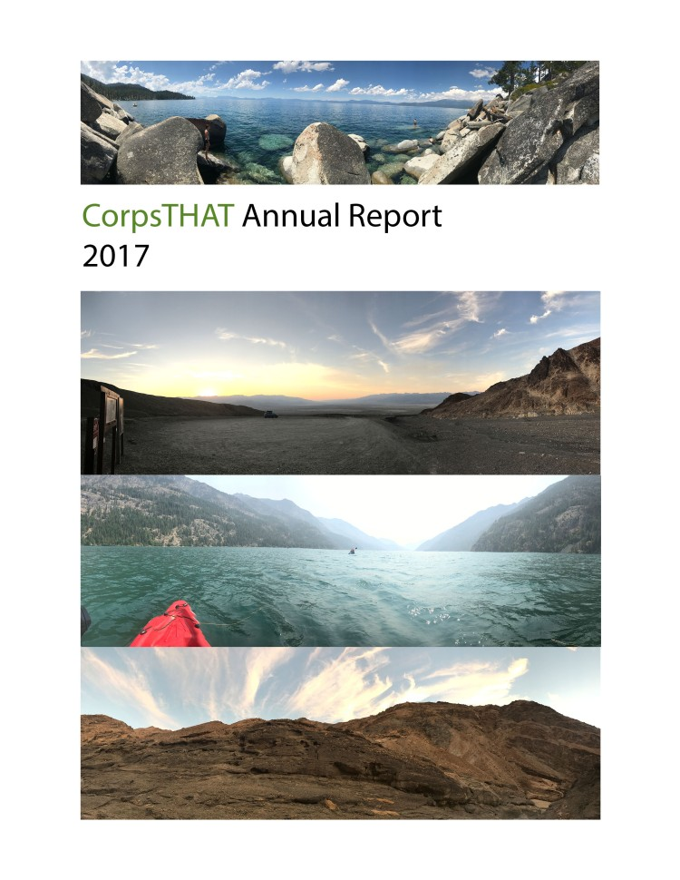 CorpsTHAT Annual Report page 1 cover
